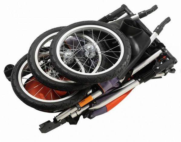 złożony wózek InStep Jogger Ultra Runner Pomarańczowo-Grafitowy