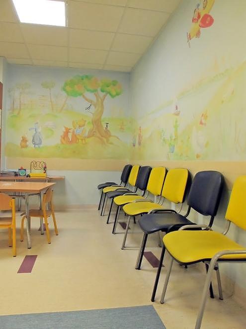 Szpital Bielański - poczekalnia