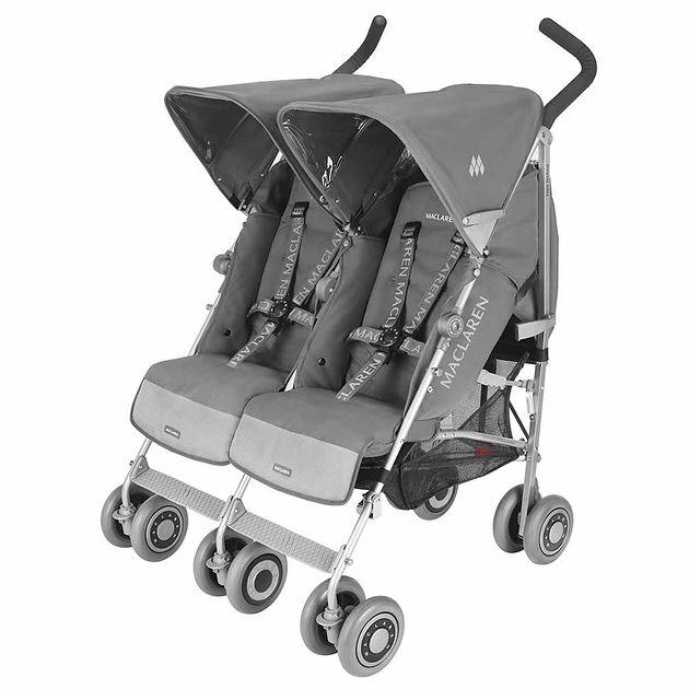 Wózek bliźniaczy Maclaren Twin Techno Charcoal