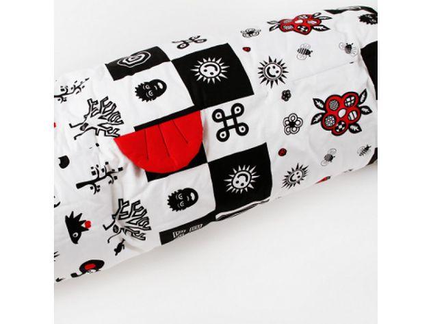 """Poduszka dla dziecka bezpieczny sen """"Roller"""" White&Black"""