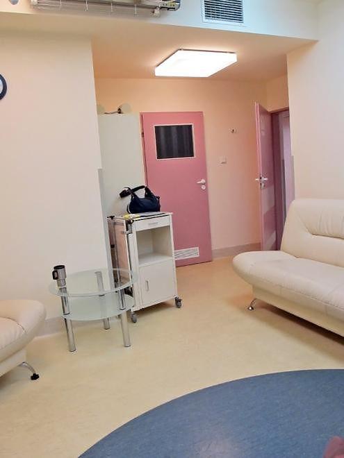 Sala na Oddziale Położniczym w Szpitalu Bielańskim