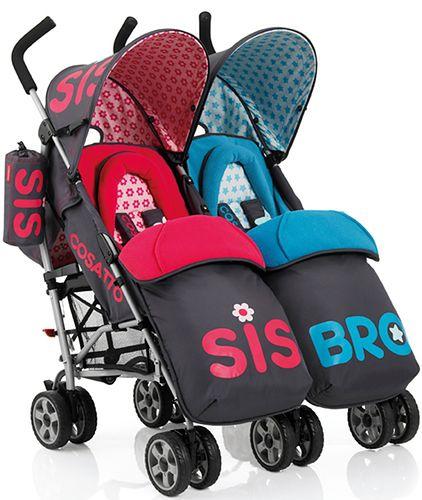 Wózek bliźniaczy Cosatto You2 Twin Bro&Sis
