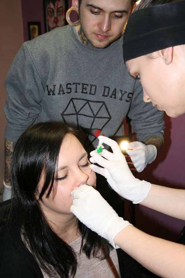 przekłuwanie nosa, piercing