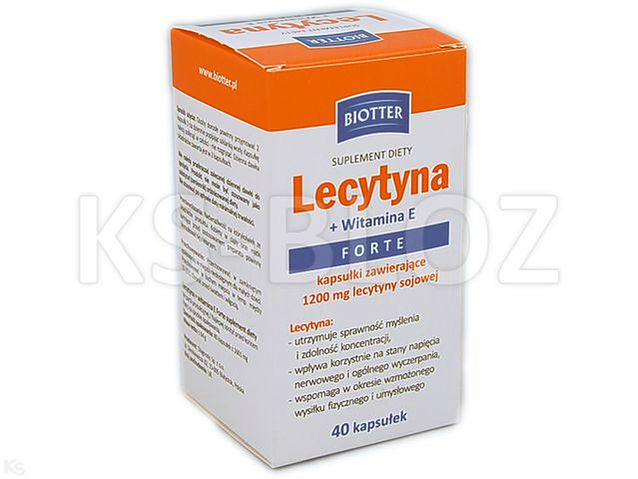 Lecytyna +witamina E Forte BIOTTER