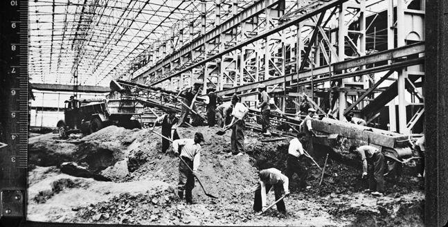 Budowa huty im. Lenina. Lata 50.XX wieku