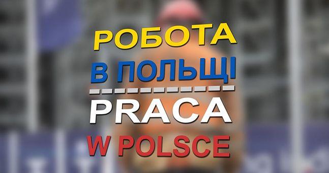 """Napis po ukraińsku i po polsku: """"Praca w Polsce"""". Nieprędko stanie się znów aktualny"""
