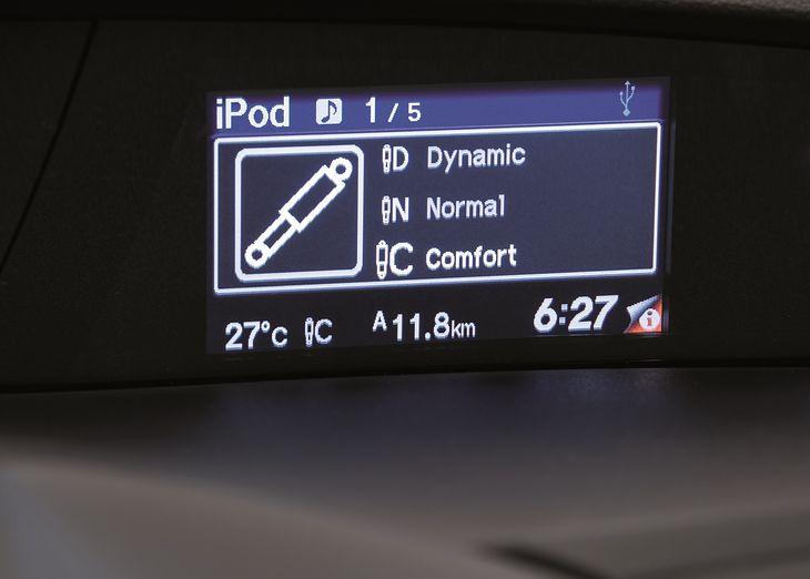 Najczęściej kierowca ma możliwość wyboru jednego z trzech trybów pracy amortyzatora adaptacyjnego. Rzadziej spotyka się dwa.