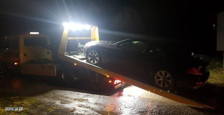 Auto trafiło na policyjny parking.