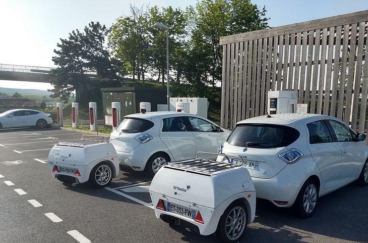 Przyczepy EP Tender na francuskiej autostradzie (fot. EP Tender)