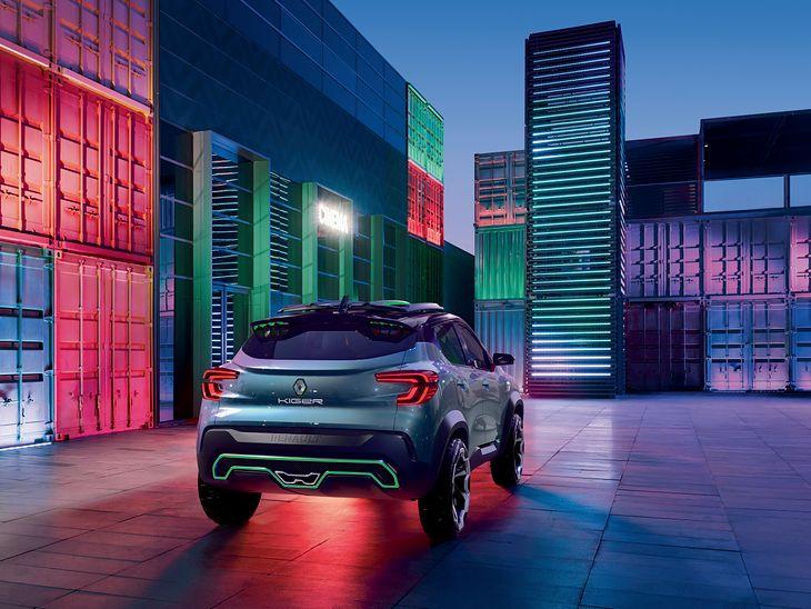 Masywne nadwozie, oryginalnie narysowana końcówka wydechu - Renault dało ponieść się fantazji