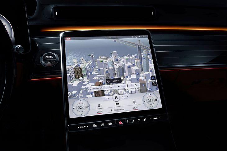 System MBUX w Mercedesie klasy S (2021) (fot. Mercedes-Benz)