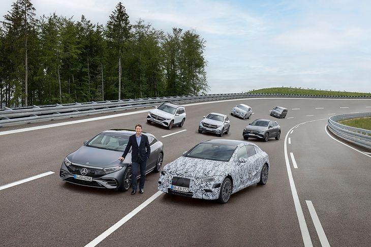 Ola Kallenius i gama elektrycznych modeli Mercedes EQ