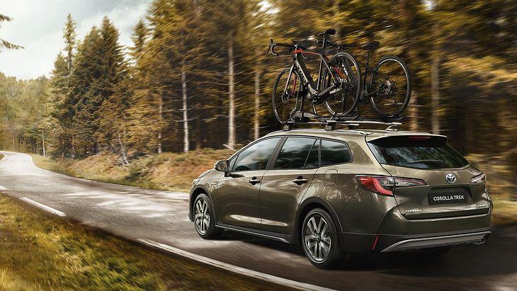 Odmiana Trek czerpie nazwę od firmy rowerowej. Ma dotrzeć tam, gdzie nie dojedzie zwykła Toyota Corolla.