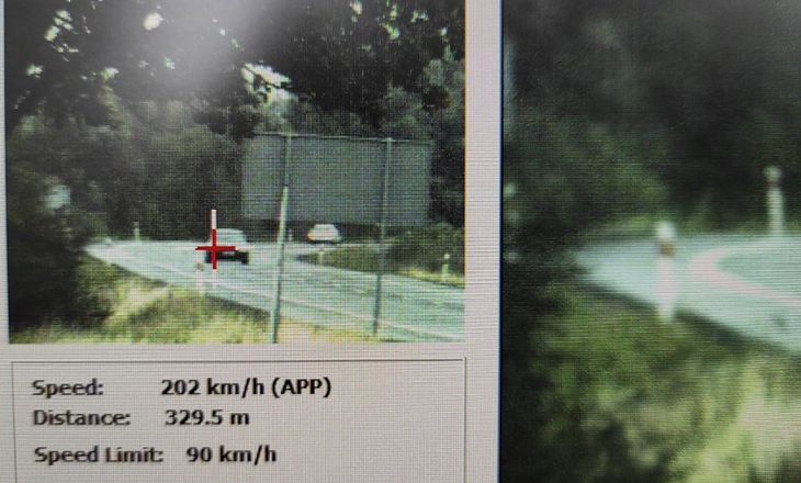 202 km/h na ograniczeniu do 90 km/h to gruba przesada.