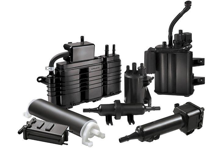 Elementy układu paliwowego z pochłaniaczami par paliwa firmy Delphi