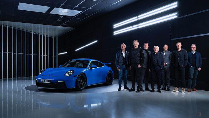 Zarząd Porsche AG wraz z nowym Porsche 911 GT3