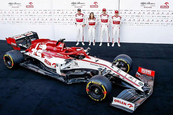 Podczas prezentacji bolidu i nowych barw zespołu Alfa Romeo, obecny był także Robert Kubica.