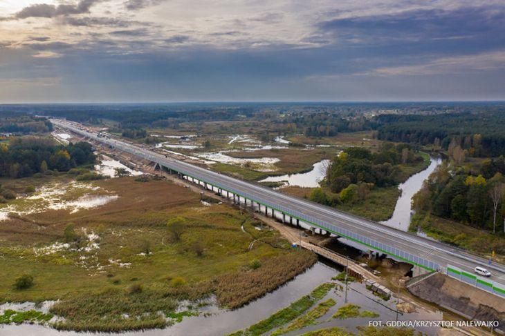 Nowy odcinek obejmuje także fragment mostu na Warcie.