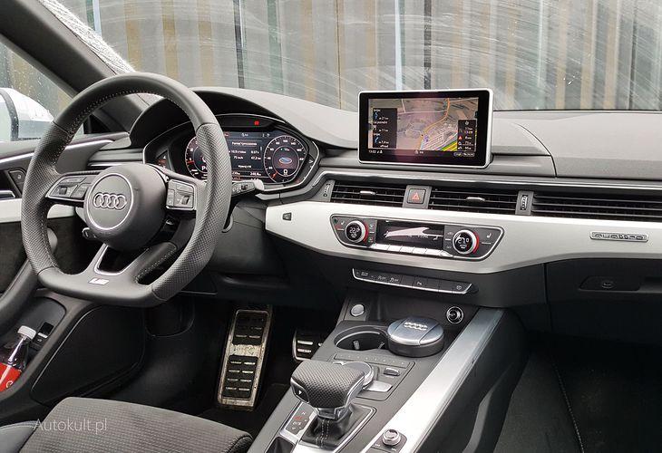 Ten kokpit znam już z A4, ale i tak byłem nim zachwycony i będę za każdym razem, gdy wsiądę do Audi.
