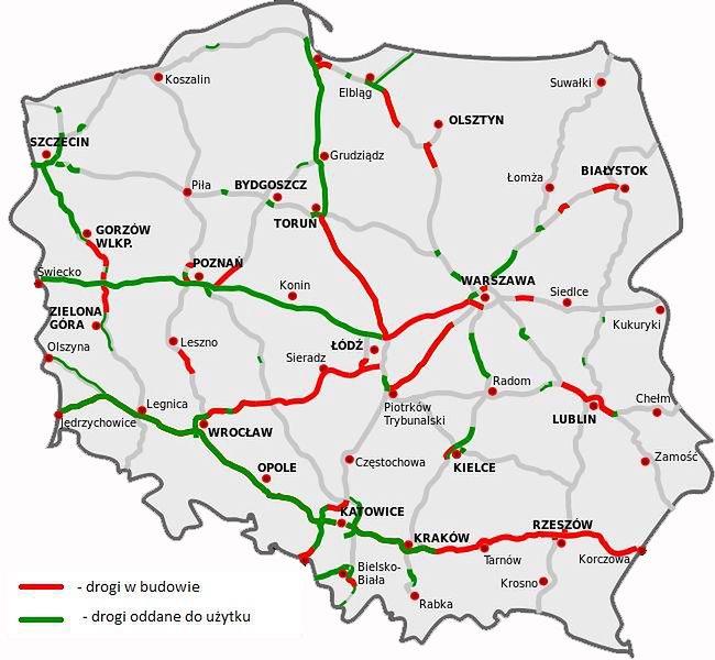 Polskie Autostrady I Drogi Ekspresowe Drogo I Malo Autokult Pl