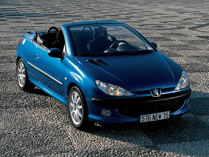 tanie u ywane kabriolety do 10 000 z peugeot 206 cc. Black Bedroom Furniture Sets. Home Design Ideas