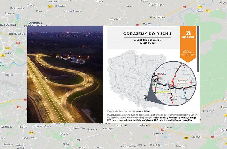 Węzeł Niepołomice powstał w niecałe 2 lata. Inwestycja kosztowała 48 mln zł.