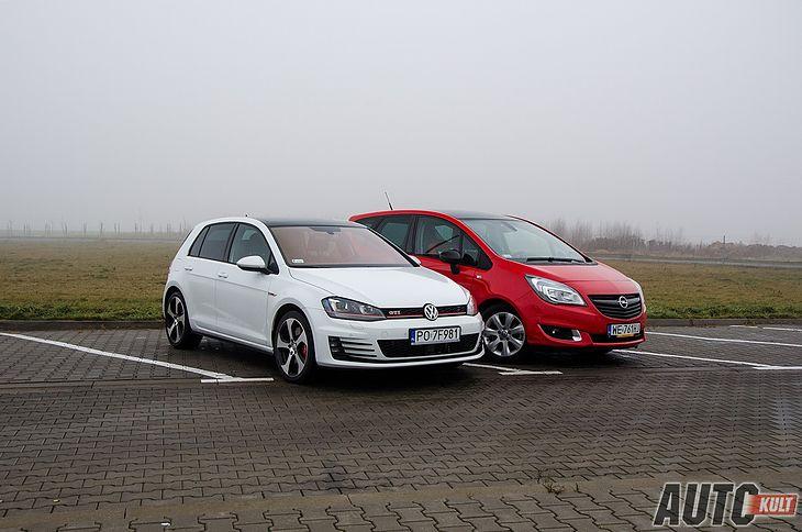 Volkswagen Golf GTI i Opel Meriva