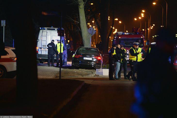 Audi na miejscu wypadku 10 lutego 2017 roku (fot. Lukasz Kalinowski/East News)