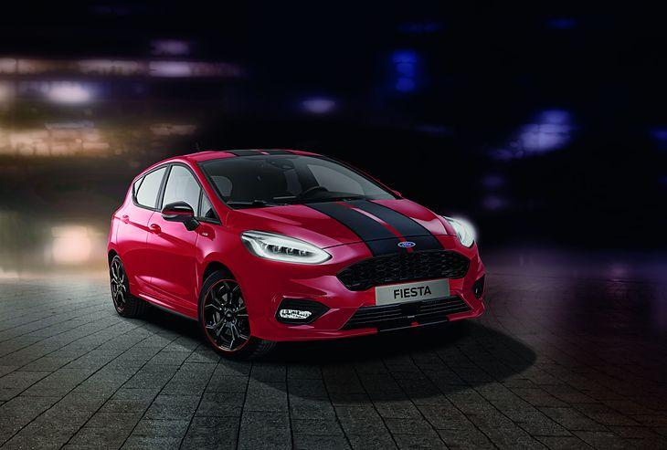 Fiesta ST-Line Red/Black Edition prezentuje się zawadiacko.
