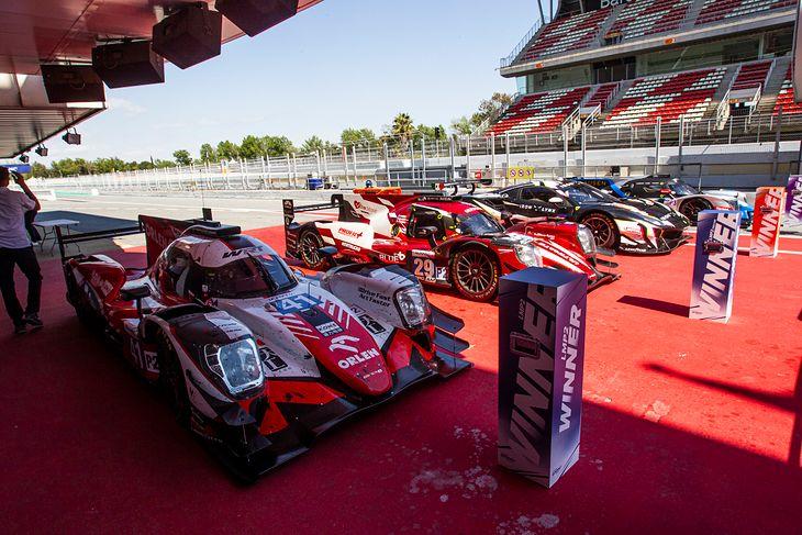 Samochód Roberta Kubicy po wyścigu w Barcelonie