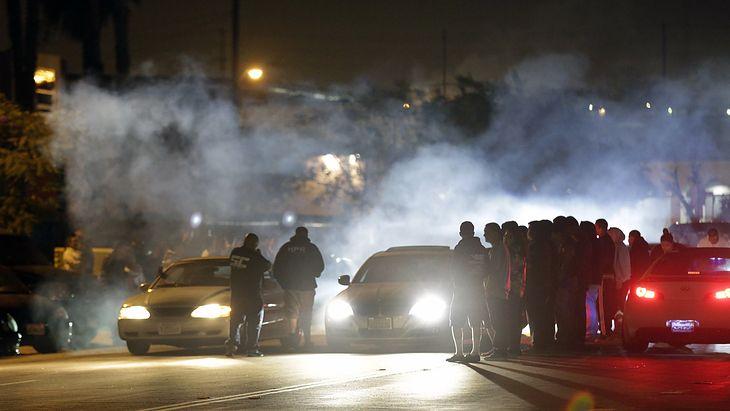 Nielegalne wyścigi w USA (fot. Lawrence K. Ho / Los Angeles Times via Getty Images)
