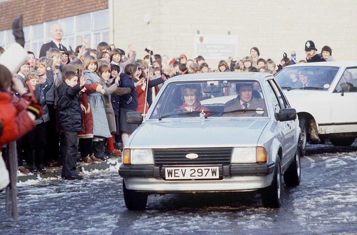 Księżna Diana w swoim fordzie escorcie