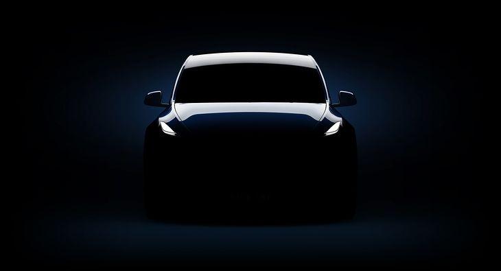 Tesla Model Y jeszcze schowana w cieniu
