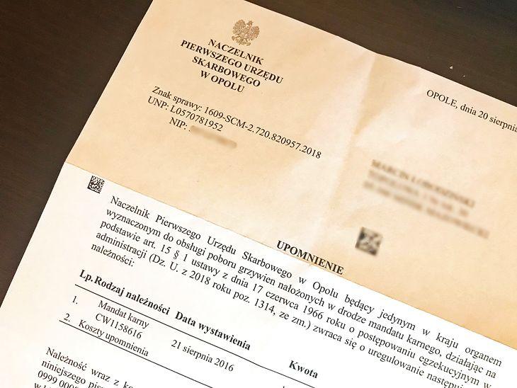 Urząd Skarbowy w Opolu wysyła listy. Trzeba płacić.