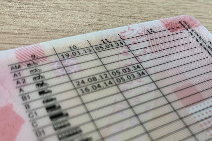 Data następnych badań na prawo jazdy określa ważność uprawnień do kierowania pojazdem