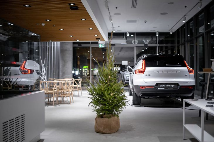 W poprzednich latach choinki Volvo cieszyły się dużym powodzeniem.