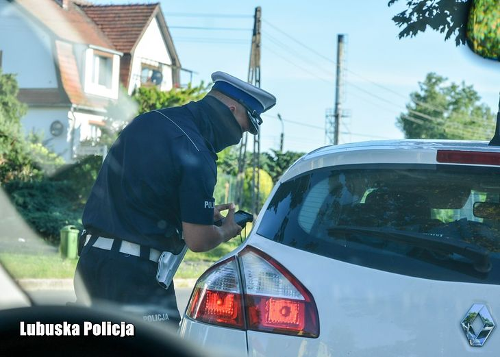Kontrola drogowa (fot. Lubuska Policja)