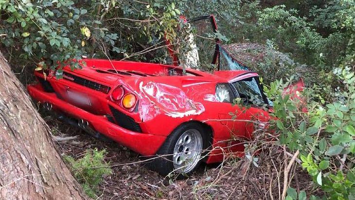 Smutny widok - na szczęście kierowcy i pasażerowi nic się nie stało.