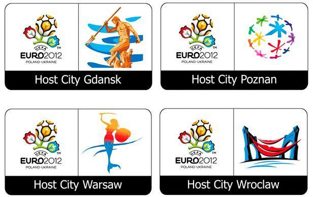 UEFA EURO 2012 logo warszawa gdańsk wrocław poznań
