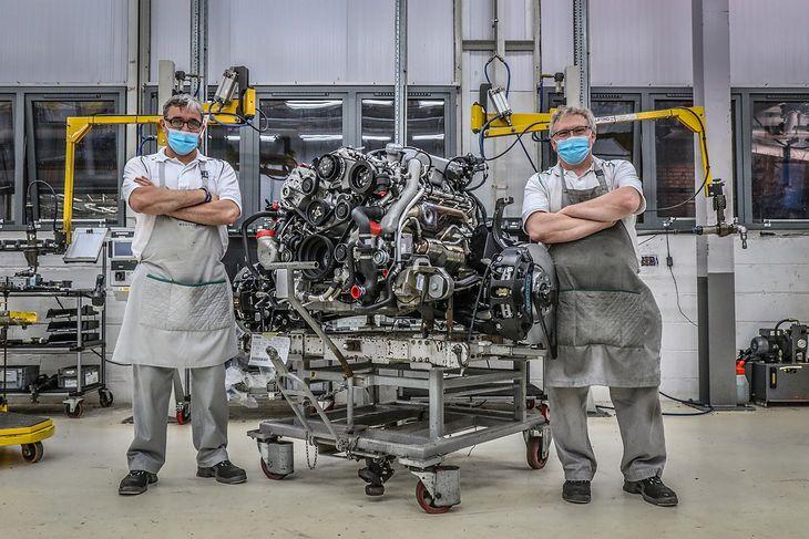 Produkcja silnika V8 z serii L o pojemności 6 i 3/4 litra rozpoczęła się w 1959 roku (fot. Bentley)
