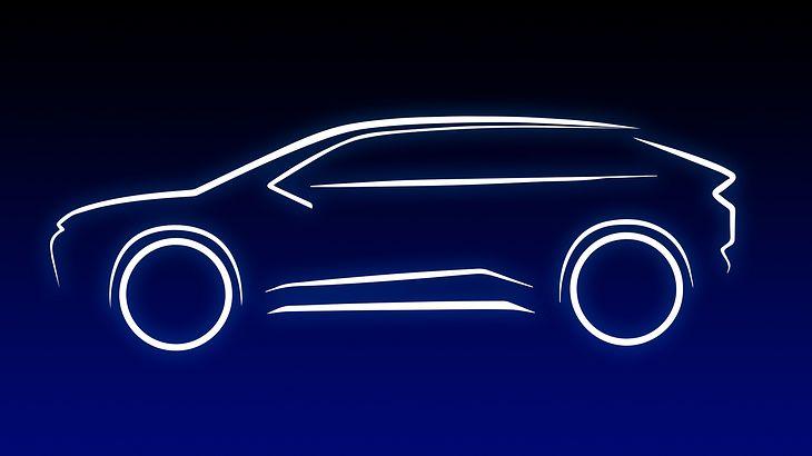 Szkic pierwszego elektrycznego modelu Toyoty (fot. Toyota)