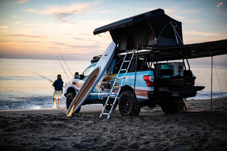Wędkowanie, surfing, albo zwykły caravaning - z Titanem Surfcamp każda z tych opcji jest możliwa.