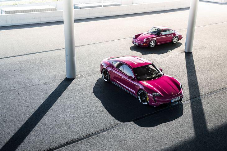 Porsche Taycan w lakierze Sternrubin