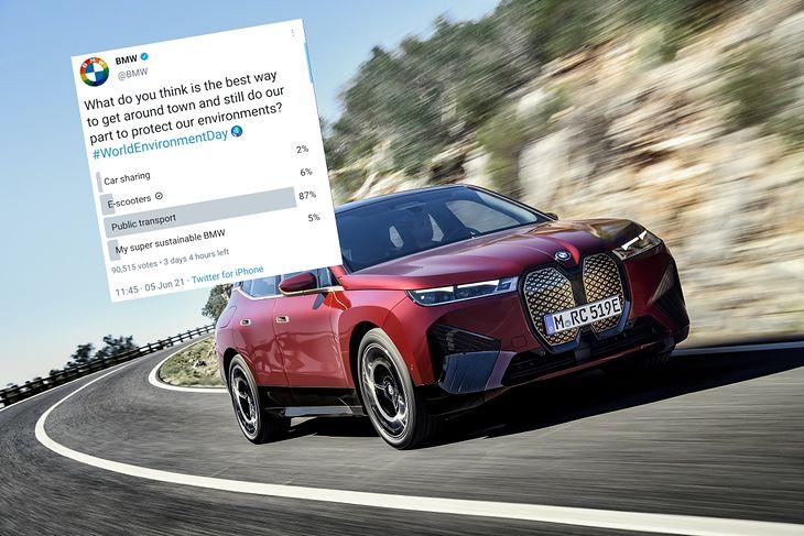 """""""Moje super zrównoważone ekologicznie BMW"""" nie było najczęściej wybieraną odpowiedzią."""