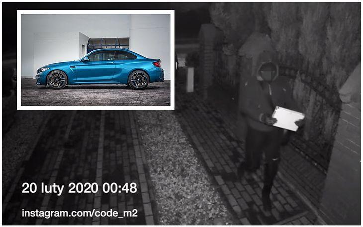 Na zdjęciu widać złodzieja, który idzie odnaleźć sygnał z kluczyka