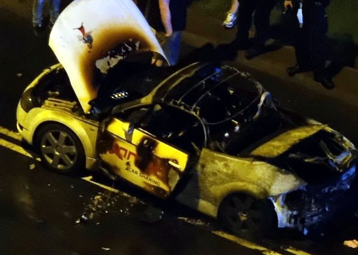 Auto zostało kompletnie zniszczone