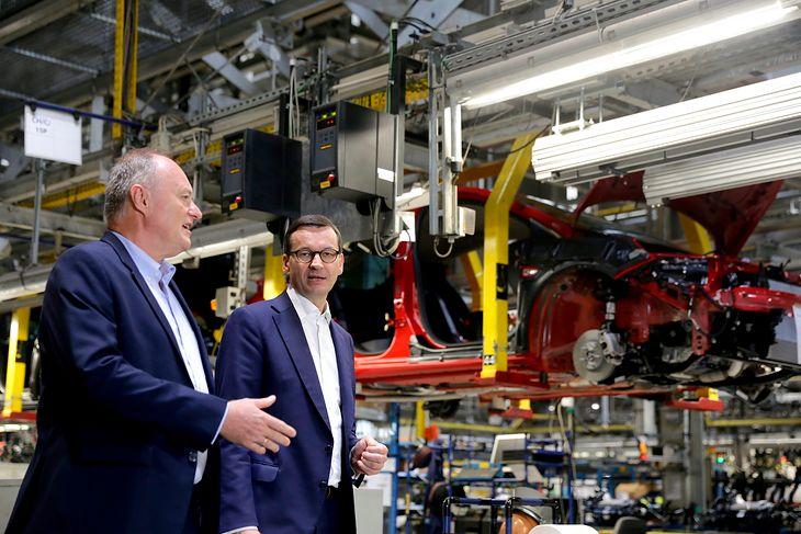 Gościem gliwickiej fabryki był premier Mateusz Morawiecki