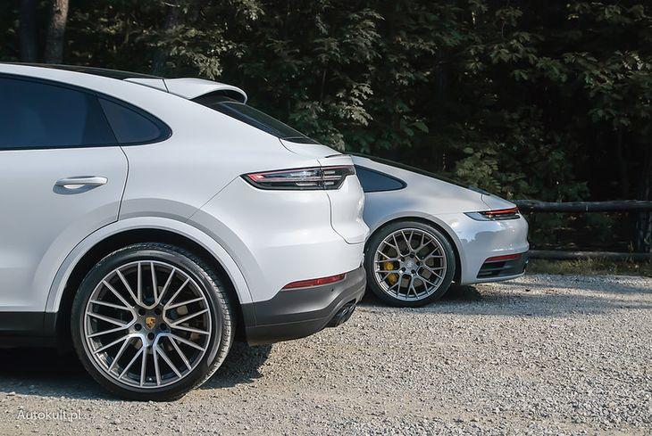 Porsche Cayenne przed 911 - dosłownie i w przenośni (fot. Mateusz Lubczański)