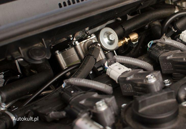 Reduktor gazowy STAG zamontowany w Toyocie Corolli Hybrid