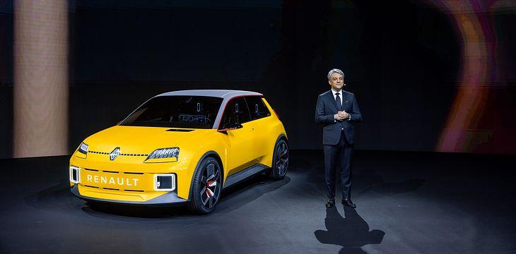Szef Renault Luca de Meo i Renault 5 E-Tech